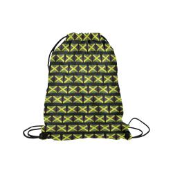 "Jamaican Flags Medium Drawstring Bag Model 1604 (Twin Sides) 13.8""(W) * 18.1""(H)"