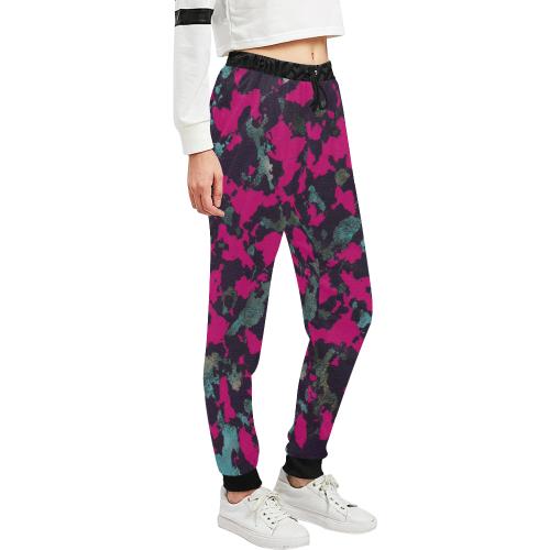 CAMOUFLAGE BLACKBERRY CRASSCO Unisex All Over Print Sweatpants (Model L11)