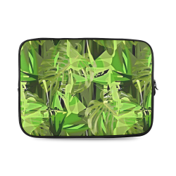 Tropical Jungle Leaves Camouflage Custom Laptop Sleeve 14''