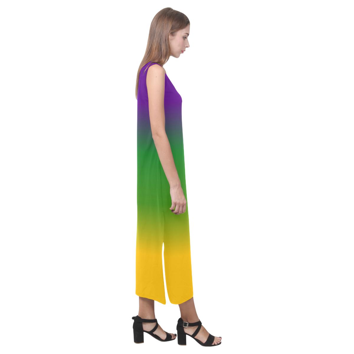 Mardi Gras Gradient 3597 Phaedra Sleeveless Open Fork Long Dress (Model D08)