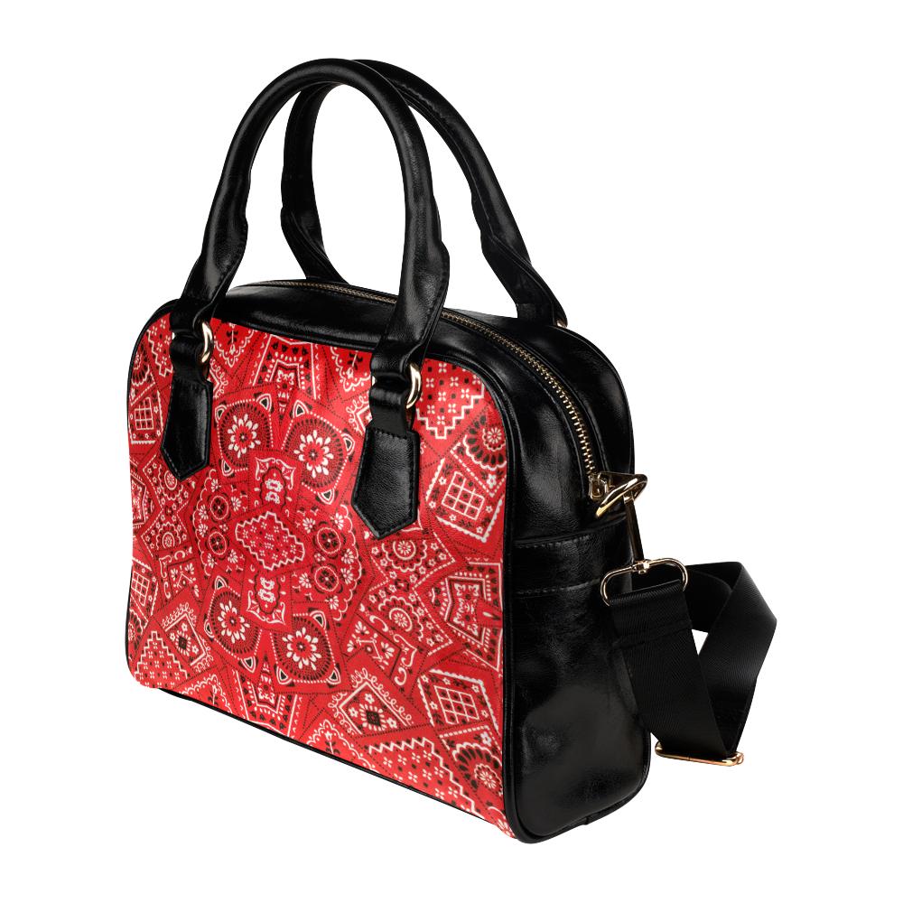 Bandana Squares Pattern Shoulder Handbag (Model 1634)