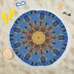 "Energy mandala Circular Beach Shawl 59""x 59"""