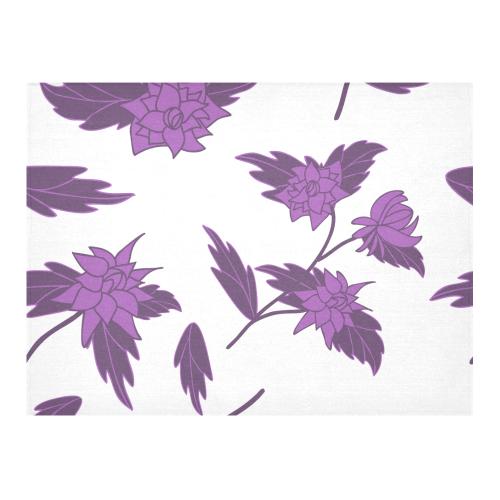 "Fantasy flowers Cotton Linen Tablecloth 52""x 70"""