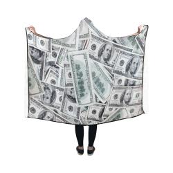 Cash Money / Hundred Dollar Bills Hooded Blanket 50''x40''