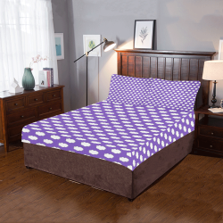 Clouds with Polka Dots on Purple 3-Piece Bedding Set