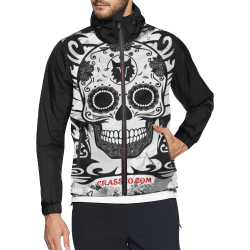 SKULL TRIBAL WINDBREAKER Unisex All Over Print Windbreaker (Model H23)