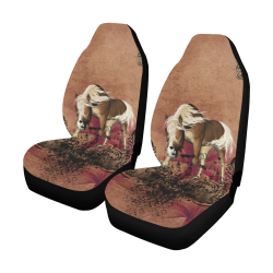 Amazing horse with flowers Car Seat Covers (Set of 2)
