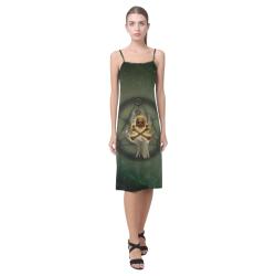 Skull in a hand Alcestis Slip Dress (Model D05)