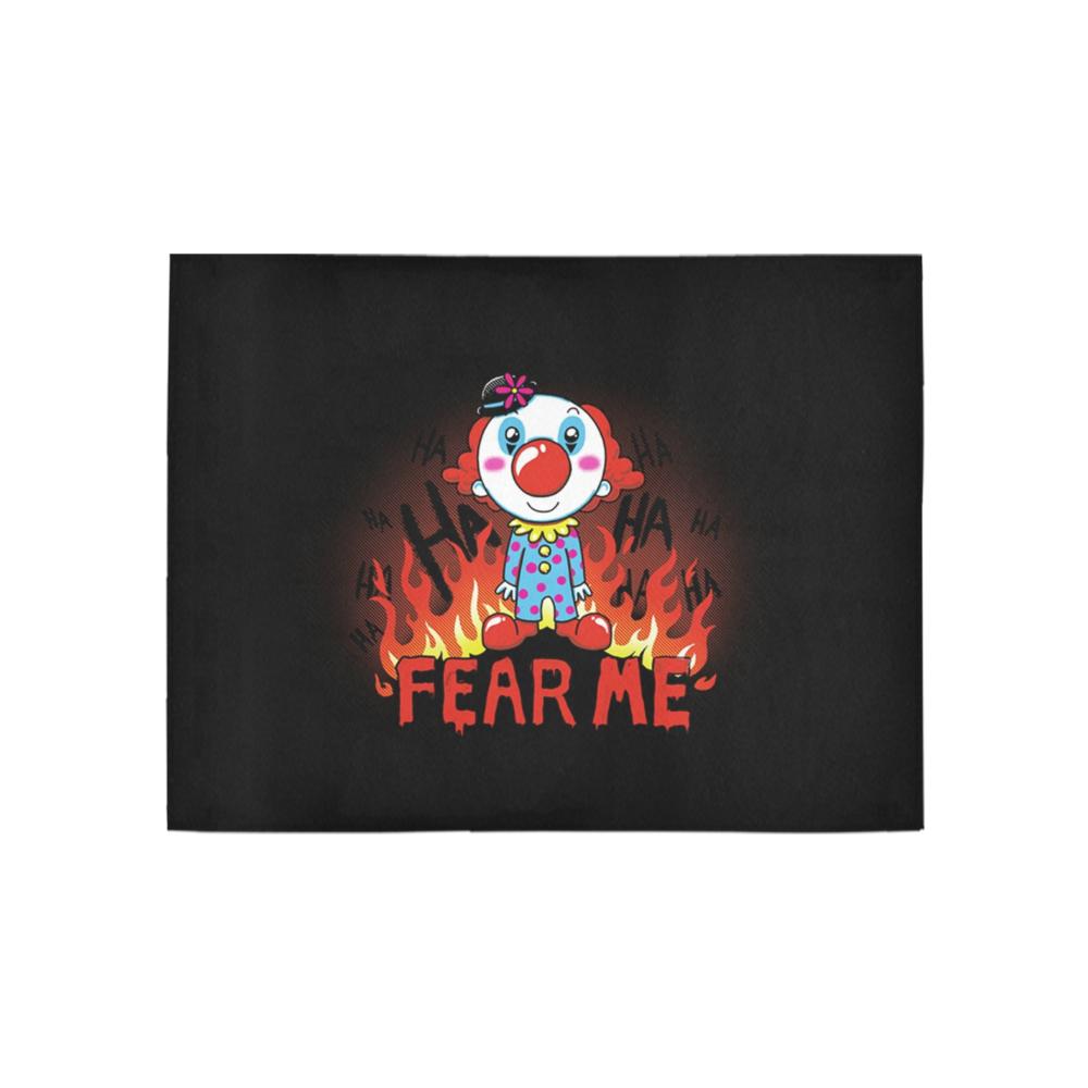 Fear me Clown Area Rug 5'3''x4'