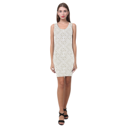 White 3D Geometric Pattern Medea Vest Dress (Model D06)