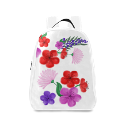 BUNCH OF FLOWERS School Backpack/Large (Model 1601)