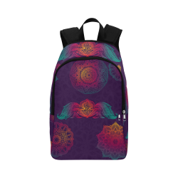 Colorful Mandala Fabric Backpack for Adult (Model 1659)