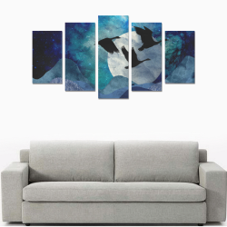 Night In The Mountains Canvas Print Sets A (No Frame)
