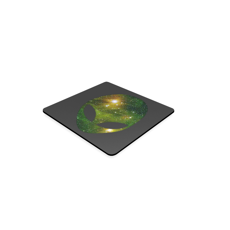 Cosmic Alien - Galaxy - Stars Square Coaster