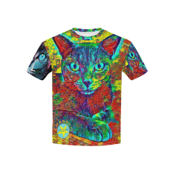 CATS MULTICOLOR CRASSCO Kids' All Over Print T-shirt (USA Size) (Model T40)