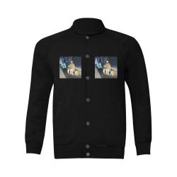 Ghosts roaming the street Men's Baseball jacket (Model H12)