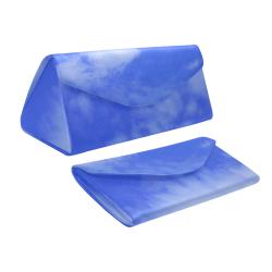 Blue Clouds Custom Foldable Glasses Case