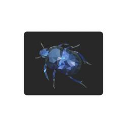 Low poly geometric blue bug Rectangle Mousepad