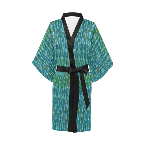 starfall and rain Kimono Robe