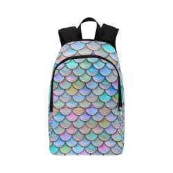 mermaid tail Fabric Backpack for Adult (Model 1659)