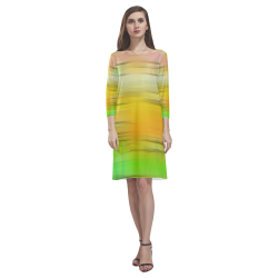 noisy gradient 2 by JamColors Rhea Loose Round Neck Dress(Model D22)