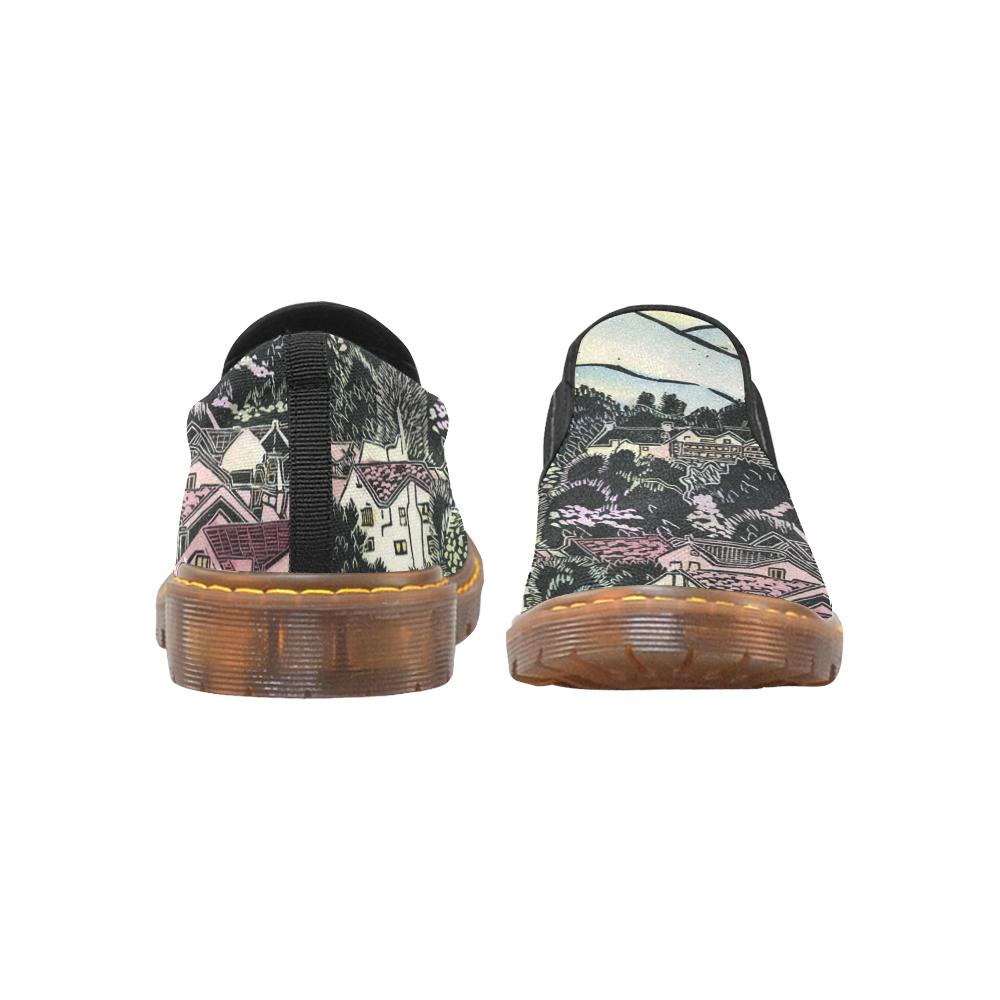 Oakland Hills of My Childhood Martin Women's Slip-On Loafer (Model 12031)