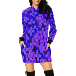 zappwaits flower t6 All Over Print Hoodie Mini Dress (Model H27)