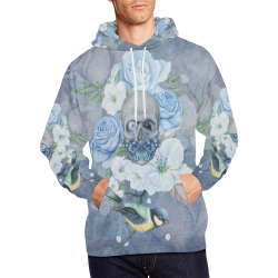Gothic Skull With Butterfly All Over Print Hoodie for Men/Large Size (USA Size) (Model H13)