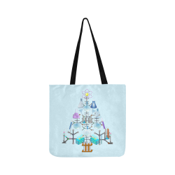 Oh Chemist Tree, Oh Chemistry, Science Christmas on Blue Reusable Shopping Bag Model 1660 (Two sides)