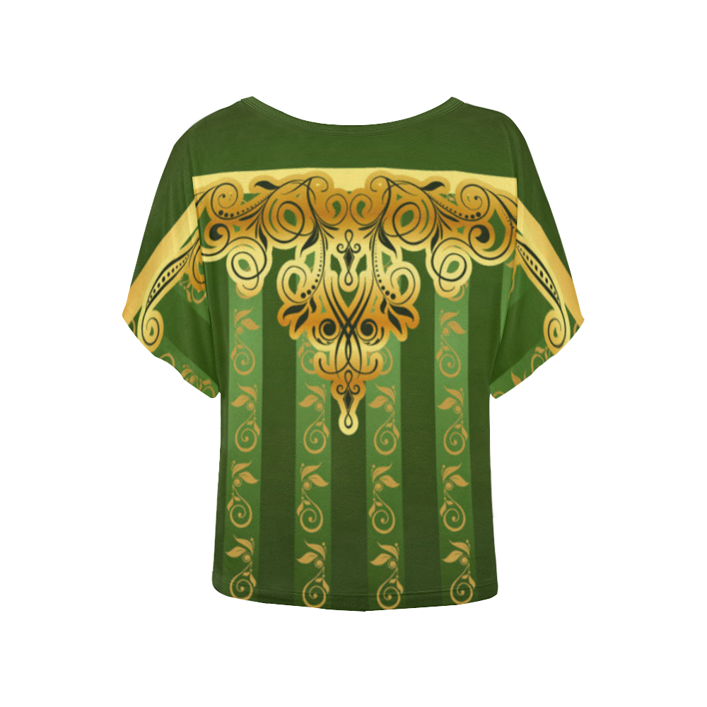 Coat of arms of Armenia Women's Batwing-Sleeved Blouse T shirt (Model T44)