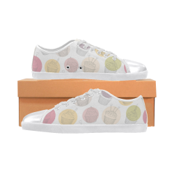 Colorful Cupcakes Women's Canvas Shoes (Model 016)