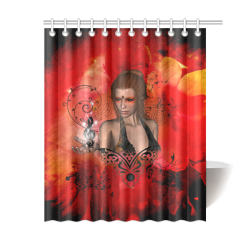 """Fairy with clef Shower Curtain 60""""x72"""""""