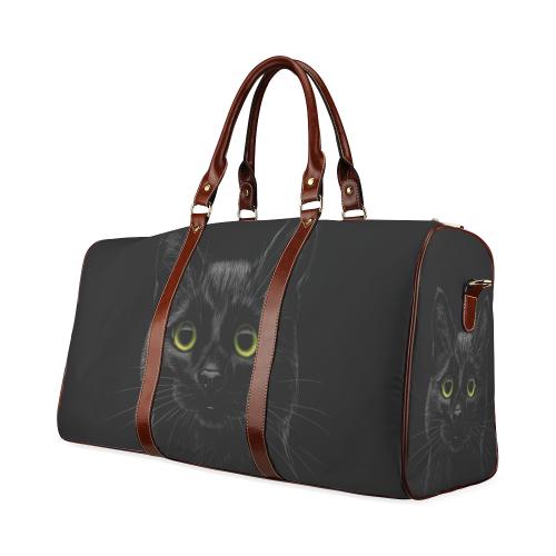 Black Cat Waterproof Travel Bag/Large (Model 1639)
