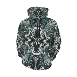 Swirl Dye Spider black ladies All Over Print Hoodie for Women (USA Size) (Model H13)