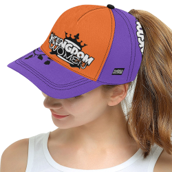 Purple/Orange All Over Print Snapback Hat D