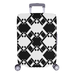 """Abstract geometric pattern - black and white. Luggage Cover/Large 26""""-28"""""""