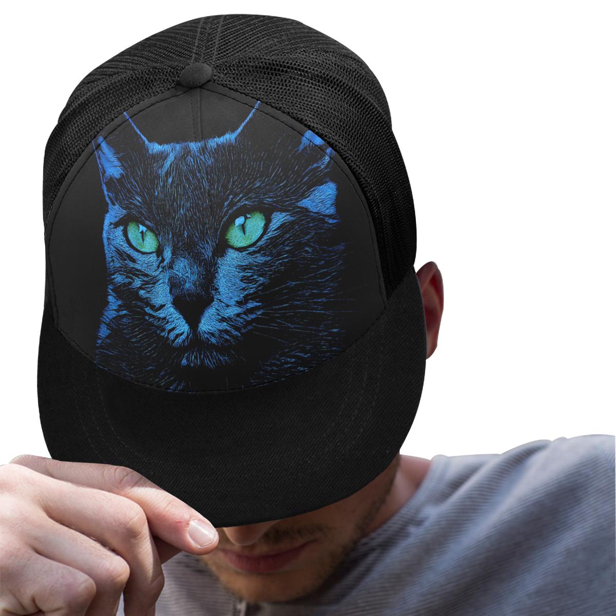 BLUE CAT BASECAP Trucker Hat H (Front Panel Customization)