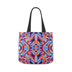 Modern Geometric Pattern Canvas Tote Bag 02 Model 1603 (Two sides)