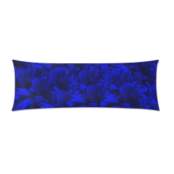 """A202 Rich Blue and Black Abstract Design Custom Zippered Pillow Case 21""""x60""""(Two Sides)"""