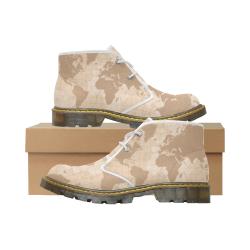 World Map Women's Nubuck Chukka Boots (Model 2402)