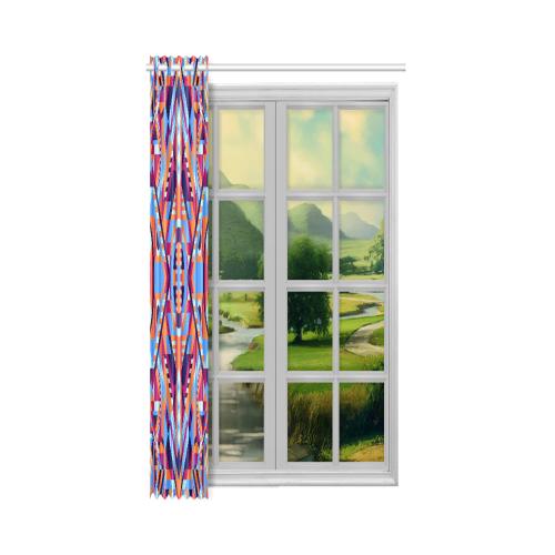 "Modern Geometric Pattern New Window Curtain 52"" x 63""(One Piece)"