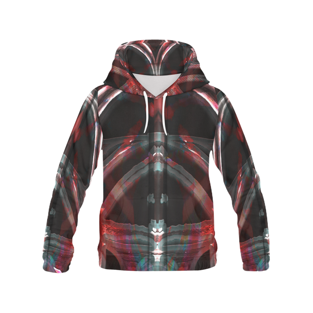 Whale Deep Wear Crew All Over Print Hoodie (for Men)