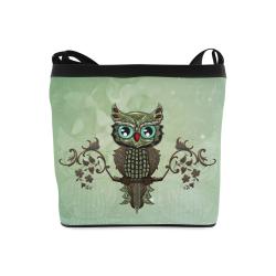 Wonderful owl, diamonds Crossbody Bags (Model 1613)