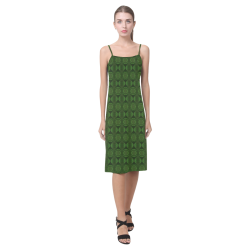 Green Bouncy Alcestis Slip Dress (Model D05)