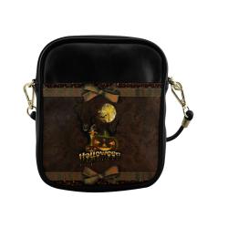 Halloween pumpkin Sling Bag (Model 1627)