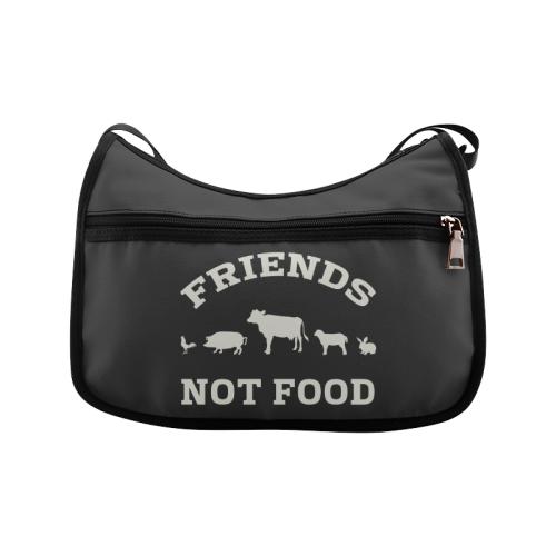 Friends Not Food (Go Vegan) Crossbody Bags (Model 1616)