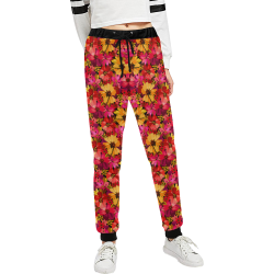 Flower Pattern Women's All Over Print Sweatpants (Model L11)