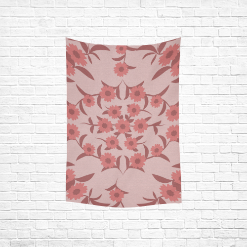 """floral damask Cotton Linen Wall Tapestry 40""""x 60"""""""
