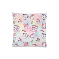 """Coffee and sweeets Custom Zippered Pillow Case 20""""x20""""(Twin Sides)"""