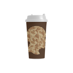 Desert Camouflage Soldier on Brown Double Wall Plastic Mug